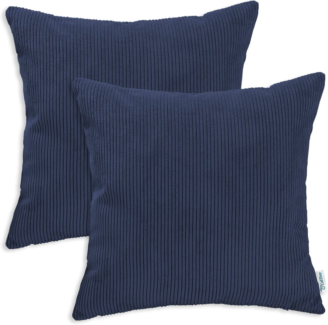 """Shades of Blue Collection 16/"""" Square Outdoor Throw Pillows Set 2 Choose Style"""