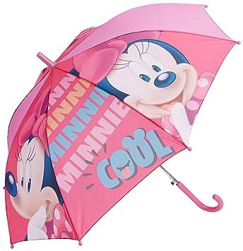 Arditex – wd9750b – Paraguas con Apertura automática (poliéster con diseño Azul bajo Licencia Minnie