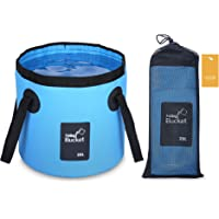 Luxtude 5 Gallon Bucket (20L), Collapsible Bucket with Handle, Portable & Lightweight Outdoor Basin Fishing Bucket…