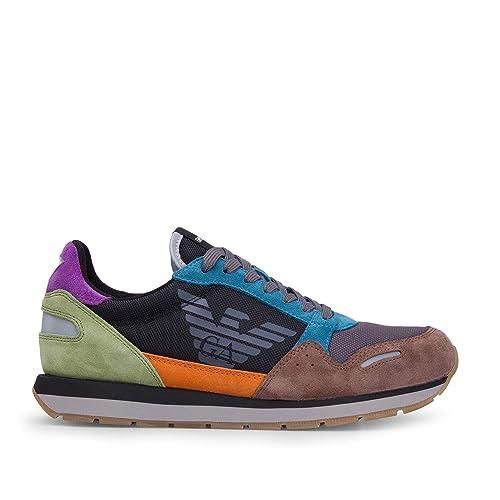 Emporio Armani - Zapatillas de Lona para Hombre Gris Gris Gris Size: 41 EU: Amazon.es: Zapatos y complementos
