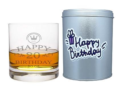 Bicchiere Da Whiskey Leonardo In Vetro Con Scritta Incisa In