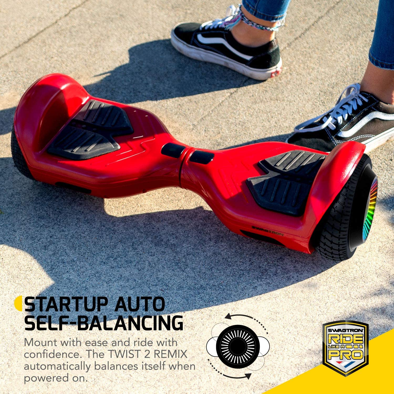 Swagboard Twist Lithium-Free Kids Hoverboard LED Black - 3