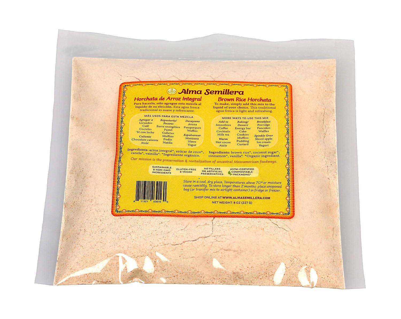 ALMA SEMILLERA - Mezcla de horchata de arroz, color marrón ...
