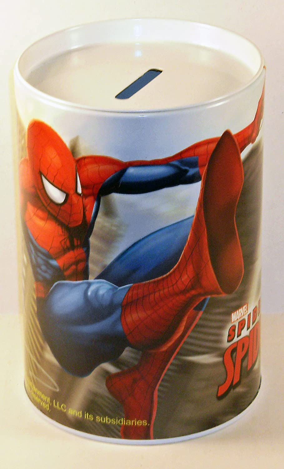 Spiderman Spider Sense Round Tin Bank   B008U5BO16