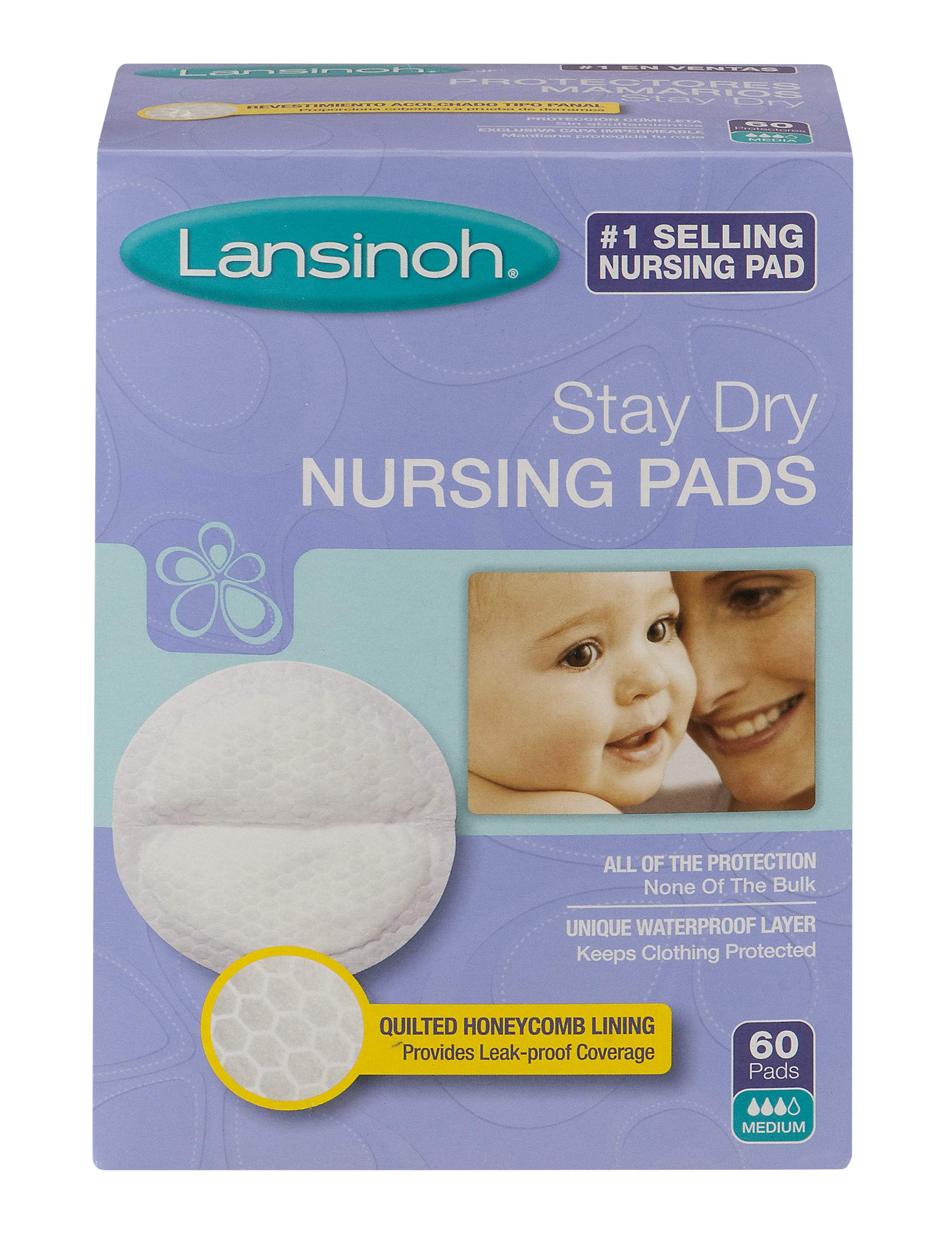 Lansinoh Nursing Pads Stay Dry 60 Each ( Pack of 2) by Lansinoh