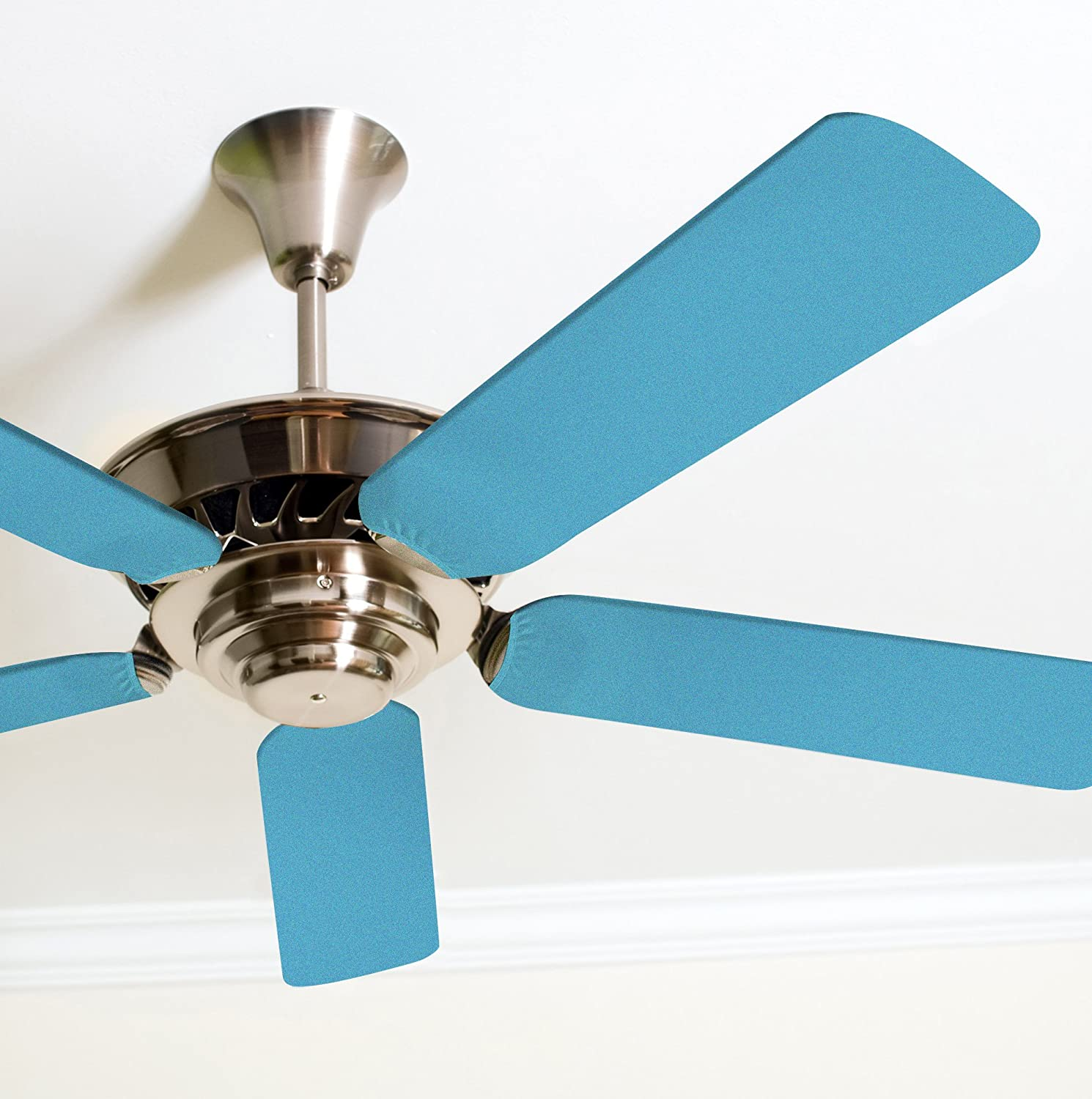 Fancy Blade Ceiling Fan Accessories Blade Cover Decoration, Solid (Light Blue)