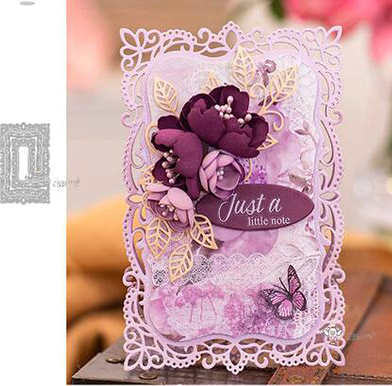 Lace Flowers Cutting Dies Stencil Metal DIY Scrapbooking Album Card Making Decor