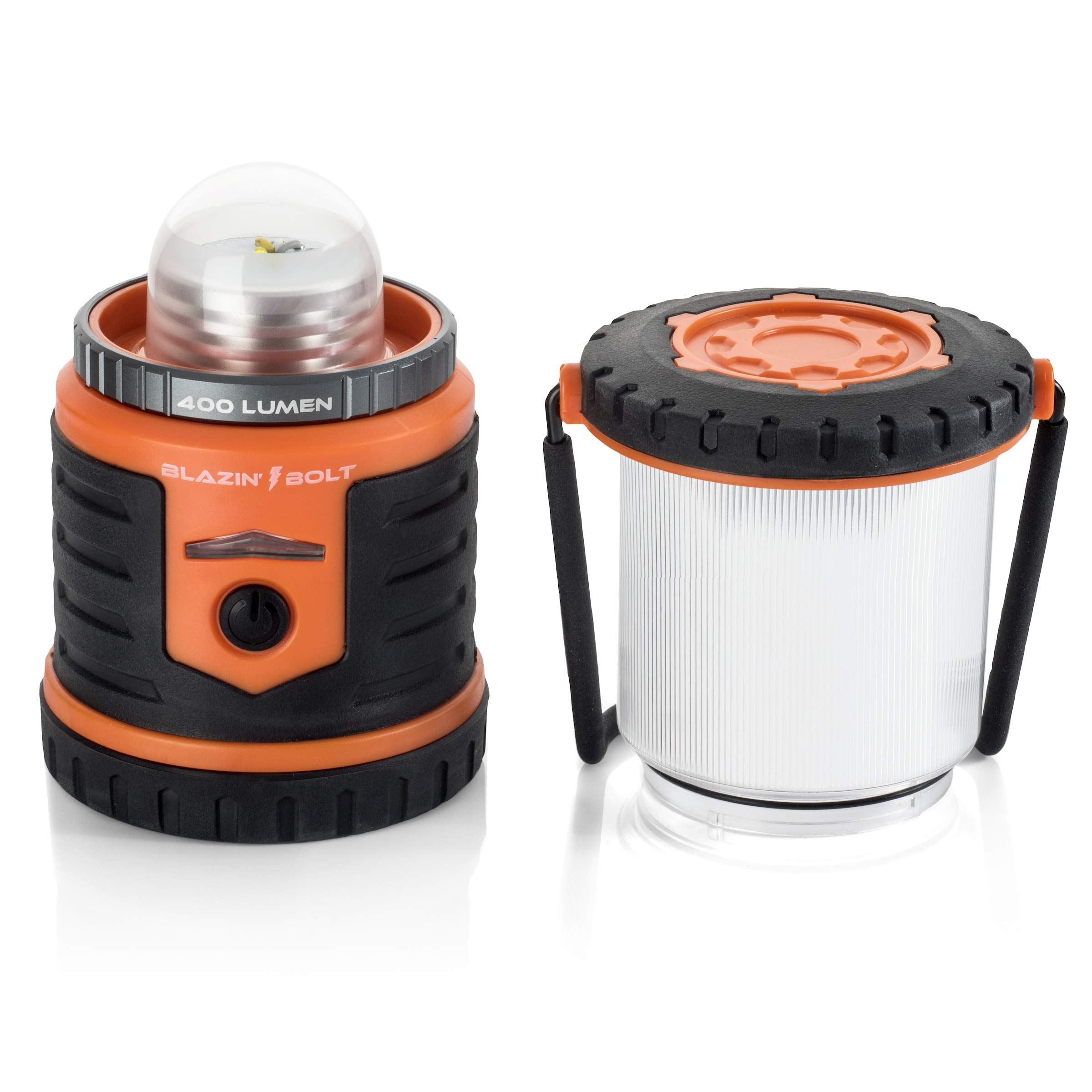 Brightest Rechargeable Lantern LED | Hurricane, Blackout, Storm | Power Bank Light | 400 Hour Runtime (Orange) by Blazin' Bison (Image #3)