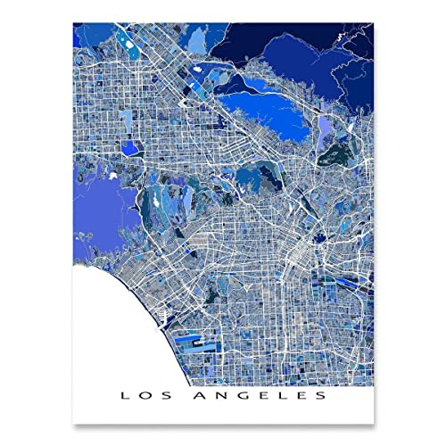 photograph about Printable Map of Los Angeles called : Los Angeles Map Print, LA California, Metropolis