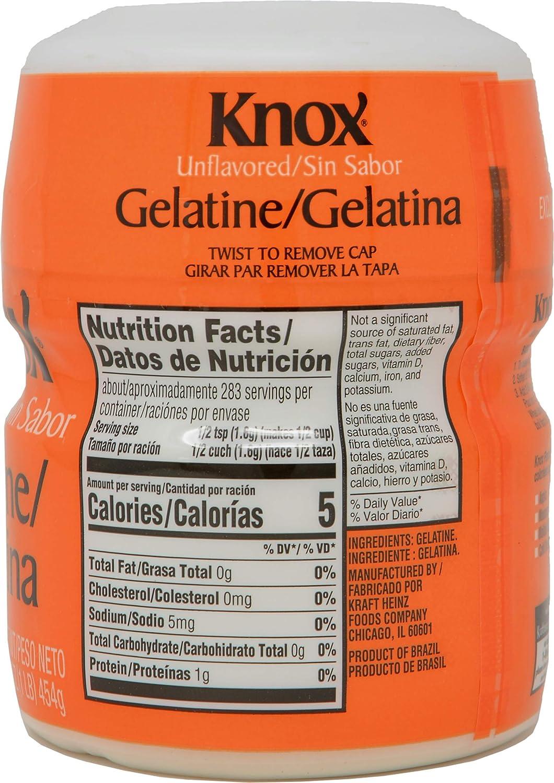 Unflavored Gelatin - 1 lb: Amazon.es: Alimentación y bebidas