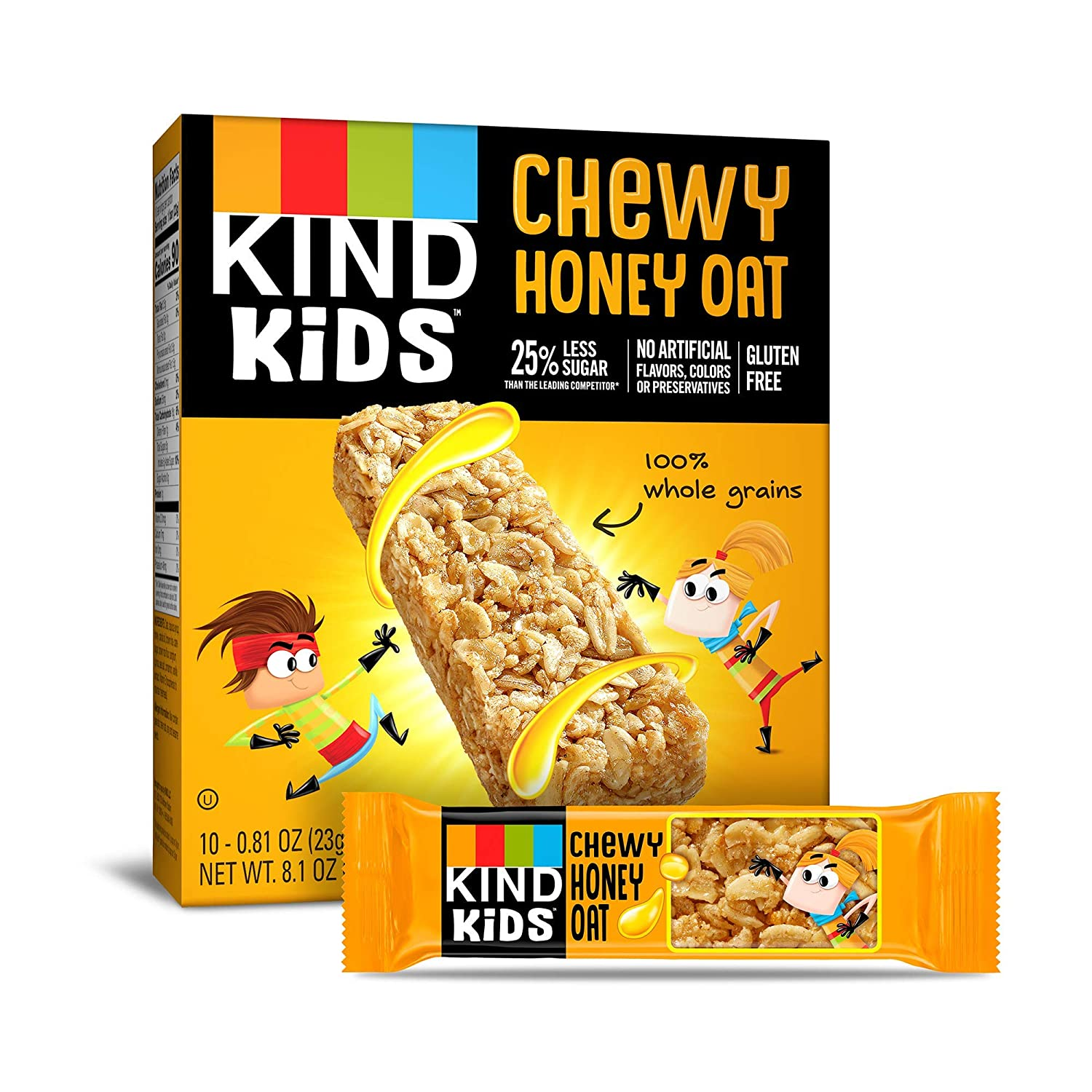 KIND Kids Granola Chewy Bar, Honey Oat, 10 Count (6 Pack)