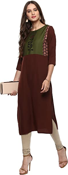 Janasya Women's Polyester Kurta Women's Kurtas & Kurtis at amazon