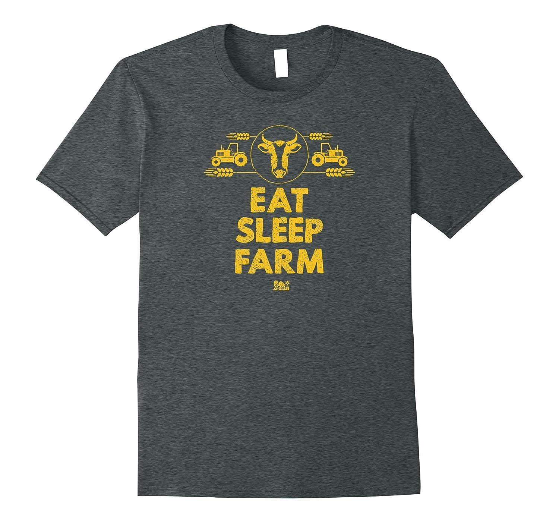 eat sleep farm farmer lifestyle farm life t-shirt-FL