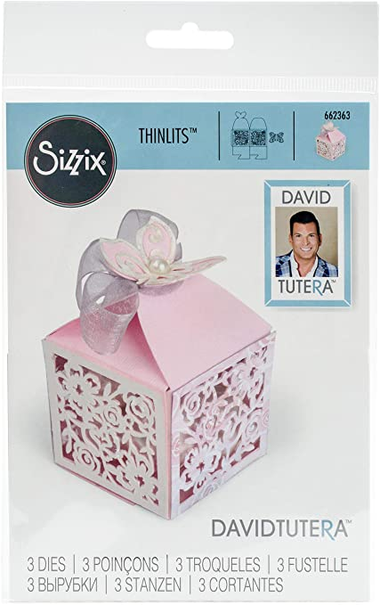 Sizzix Thinlits Troqueles 3PK Caja de sorpresas mariposa: Amazon.es: Hogar