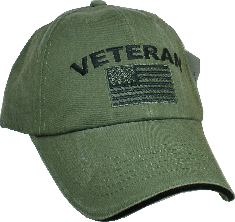 Amazon.com  Eagle Crest Military Veteran U.S. Flag Cap ad8f0707a5d