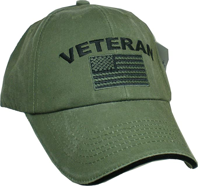 Amazon.com  Eagle Crest Military Veteran U.S. Flag Cap f8f4d6fa365