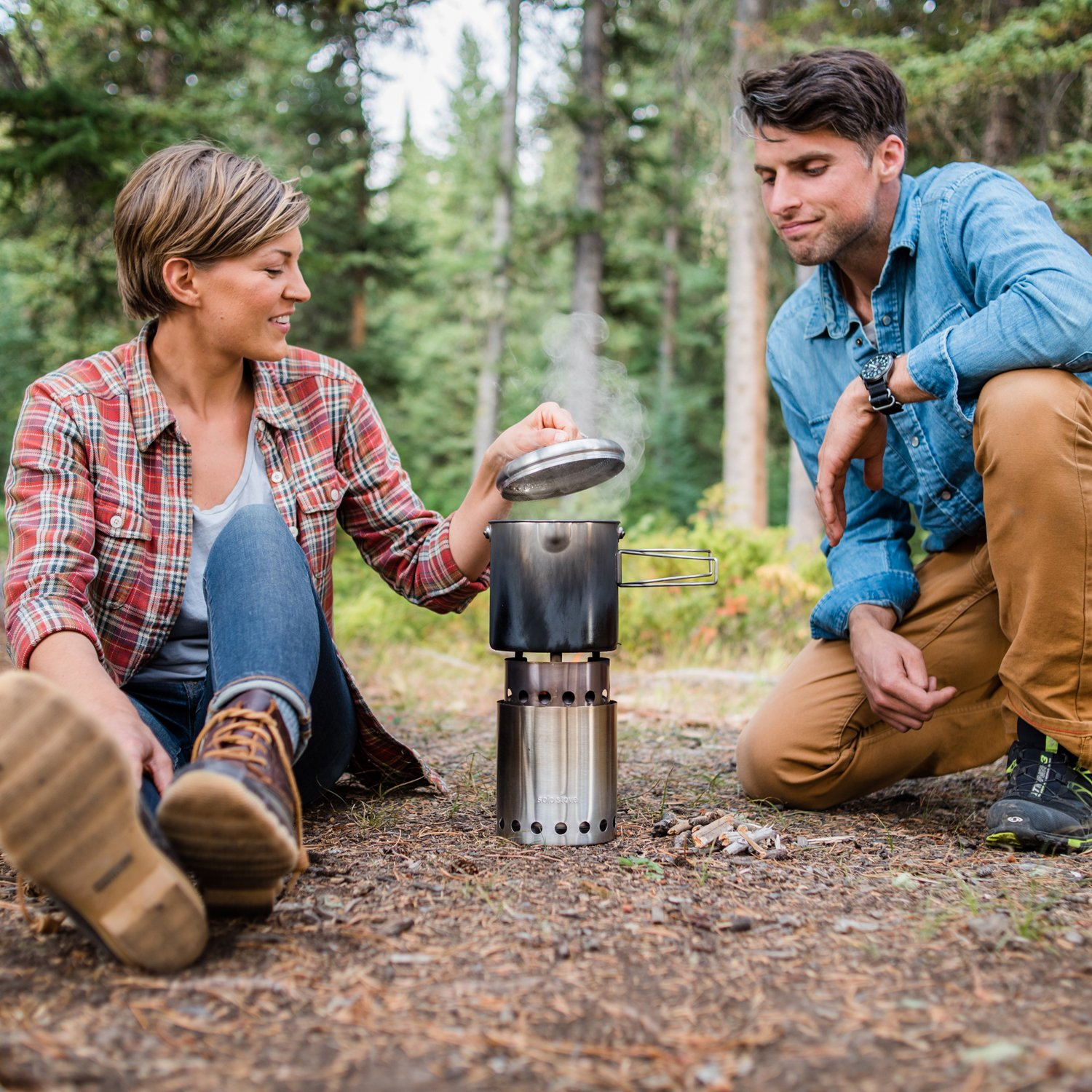 Solo Stove Titan & Solo Pot 1800 Camp Stove Combo: Woodburning Backpacking Stove Great for Camping and Survival by Solo Stove (Image #6)