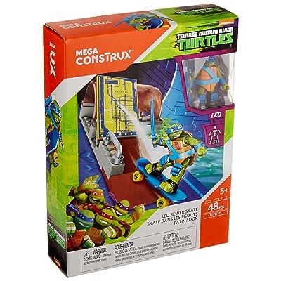 Mega Construx Teenage Mutant Ninja Turtles Leo Sewer Skate Building Set: Toys & Games