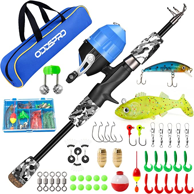 Details about  /3Pcs Telescopic Fishing Rod Spinning Reel Combo Fishing Storage Bag Kit USA Y7S1