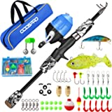 ODDSPRO Kids Fishing Pole, Portable Telescopic Fishing Rod and Reel Combo Kit - with Spincast Fishing Reel Tackle Box for Boy