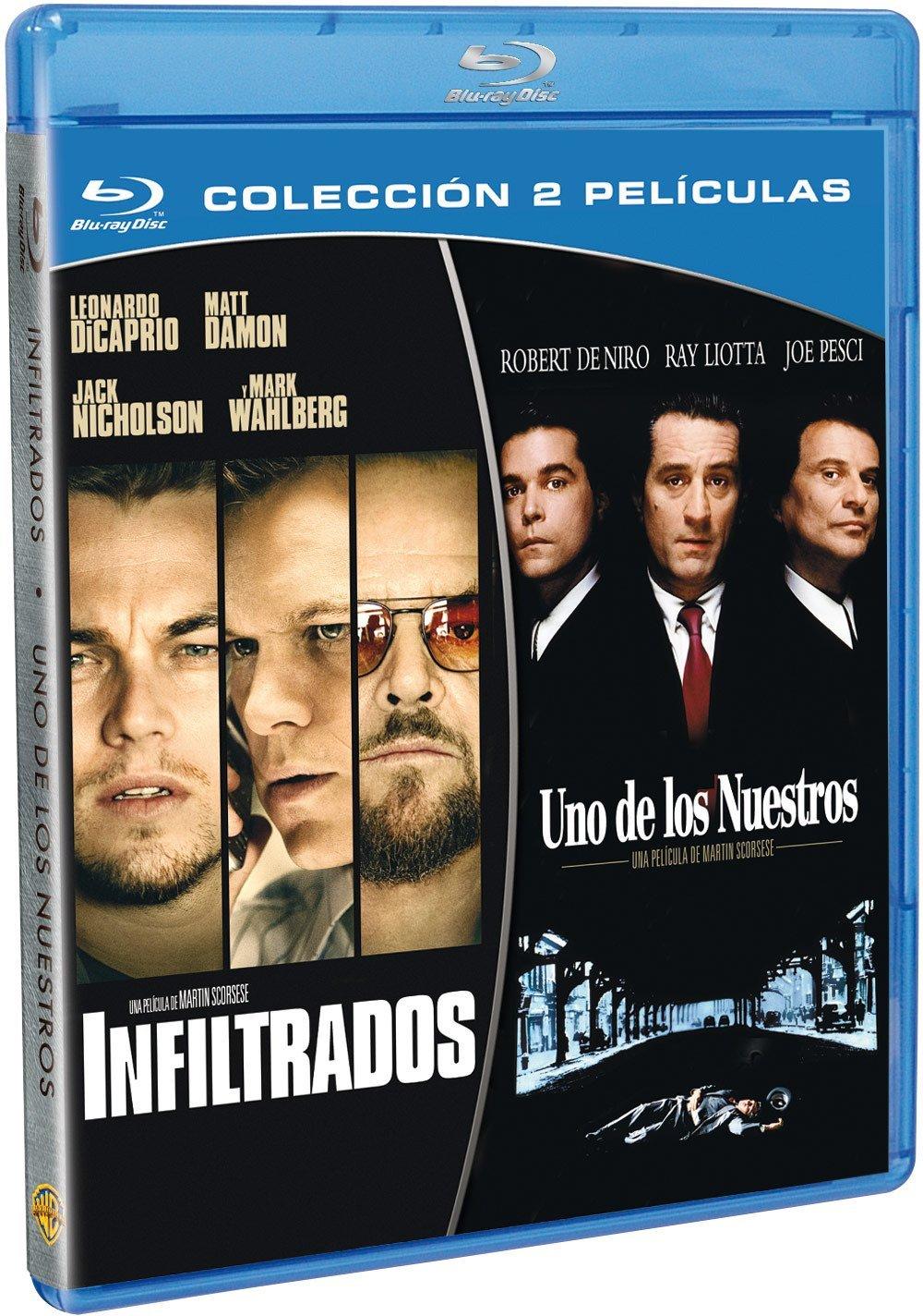 Pack: Infiltrados + Uno De Los Nuestros [Blu-ray]: Amazon.es: Leonardo DiCaprio, Matt Damon, Robert De Niro, Ray Liotta, Martin Scorsese, Leonardo DiCaprio, Matt Damon, Brad Grey, Irwin Winkler: Cine y Series TV