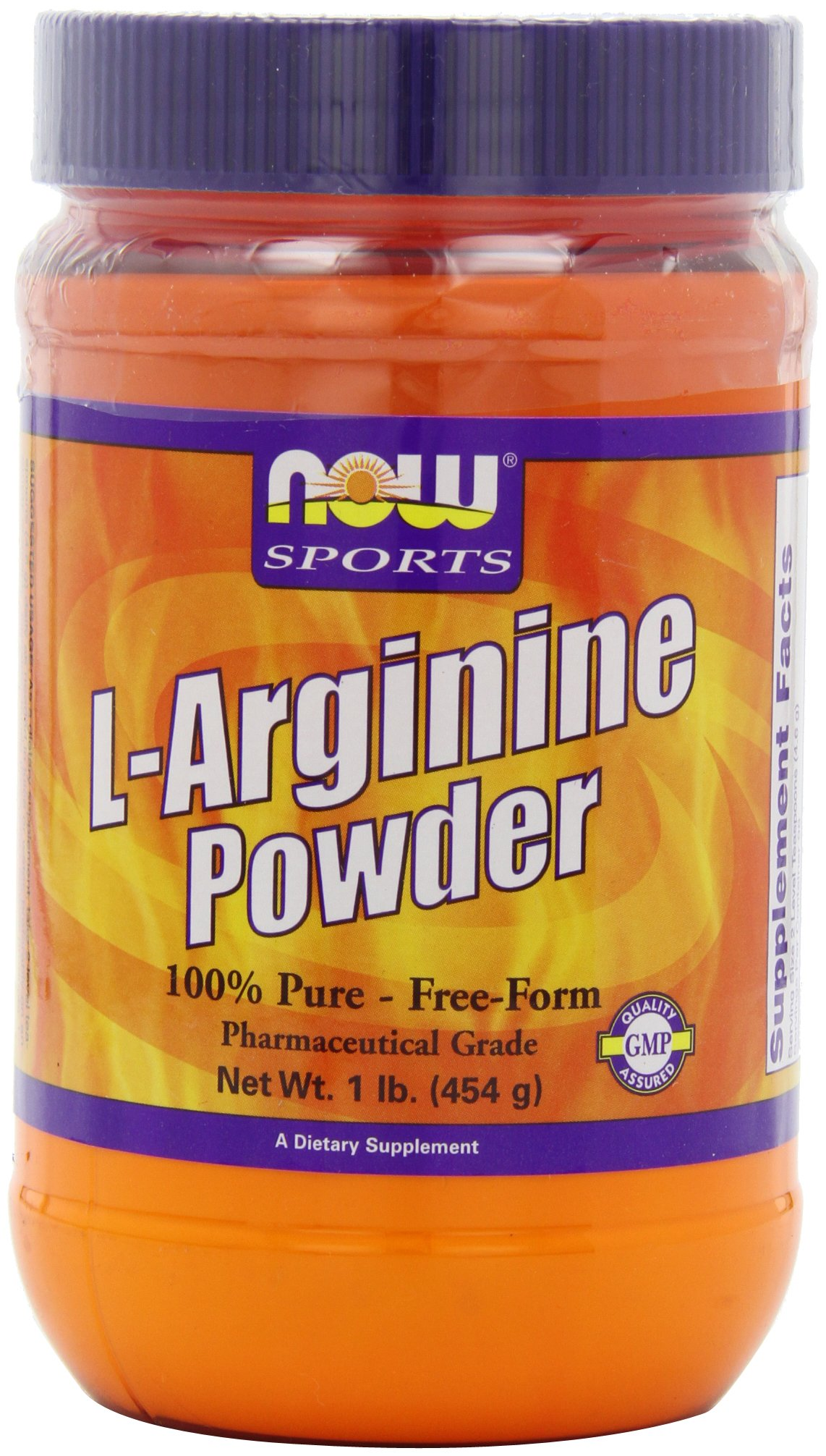 NOW Sports L-Arginine Powder, 1-Pound