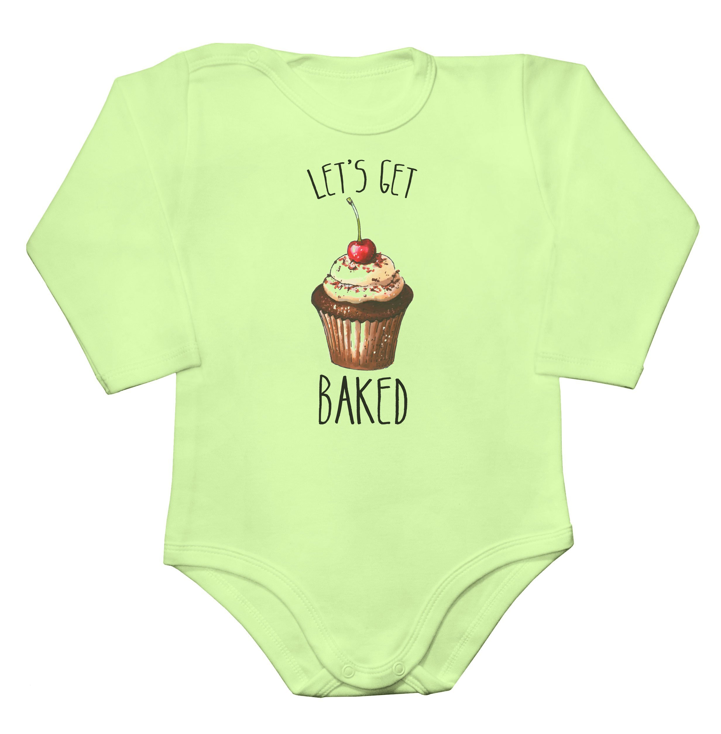 Let's Get Baked Amazing Tasty Cupcake Baby Long