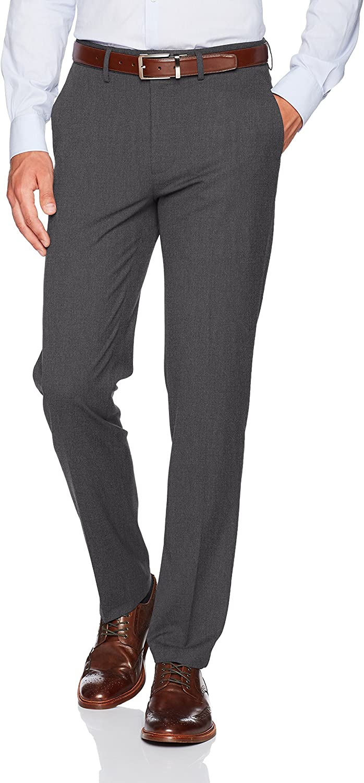 J.M. Haggar Men's Stretch Superflex Waist Slim Fit Flat Front Dress Pant at  Men's Clothing store