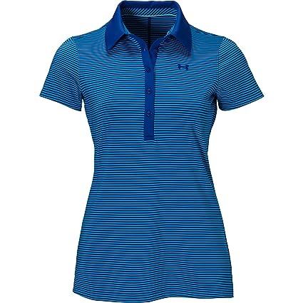 Under Armour Zinger SS Stripe Polo - Women's Cobalt / Dynamo Blue / Cobalt  XS