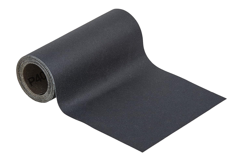 Wolfcraft 5816000 Rollo de Papel abrasivo en hú medo y seco, 0 V, Negro, 3 m x 115 mm