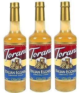 Torani Italian Eggnog Syrup 750ml (3 Pack)