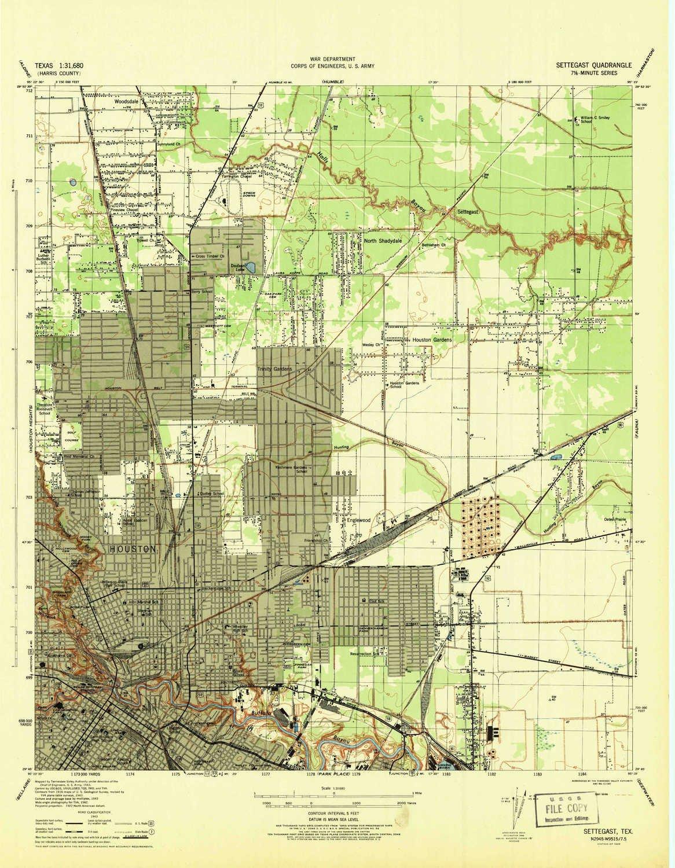 Amazon Com Yellowmaps Settegast Tx Topo Map 1 31680 Scale 7 5 X