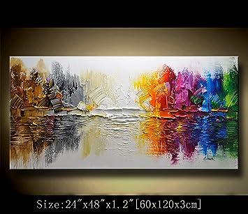 Moderne Décoration Murale Sur Toile Abstrait Peinture à Lu0027huile Art  Contemporain Abstrait Peintures Toile Sur ...
