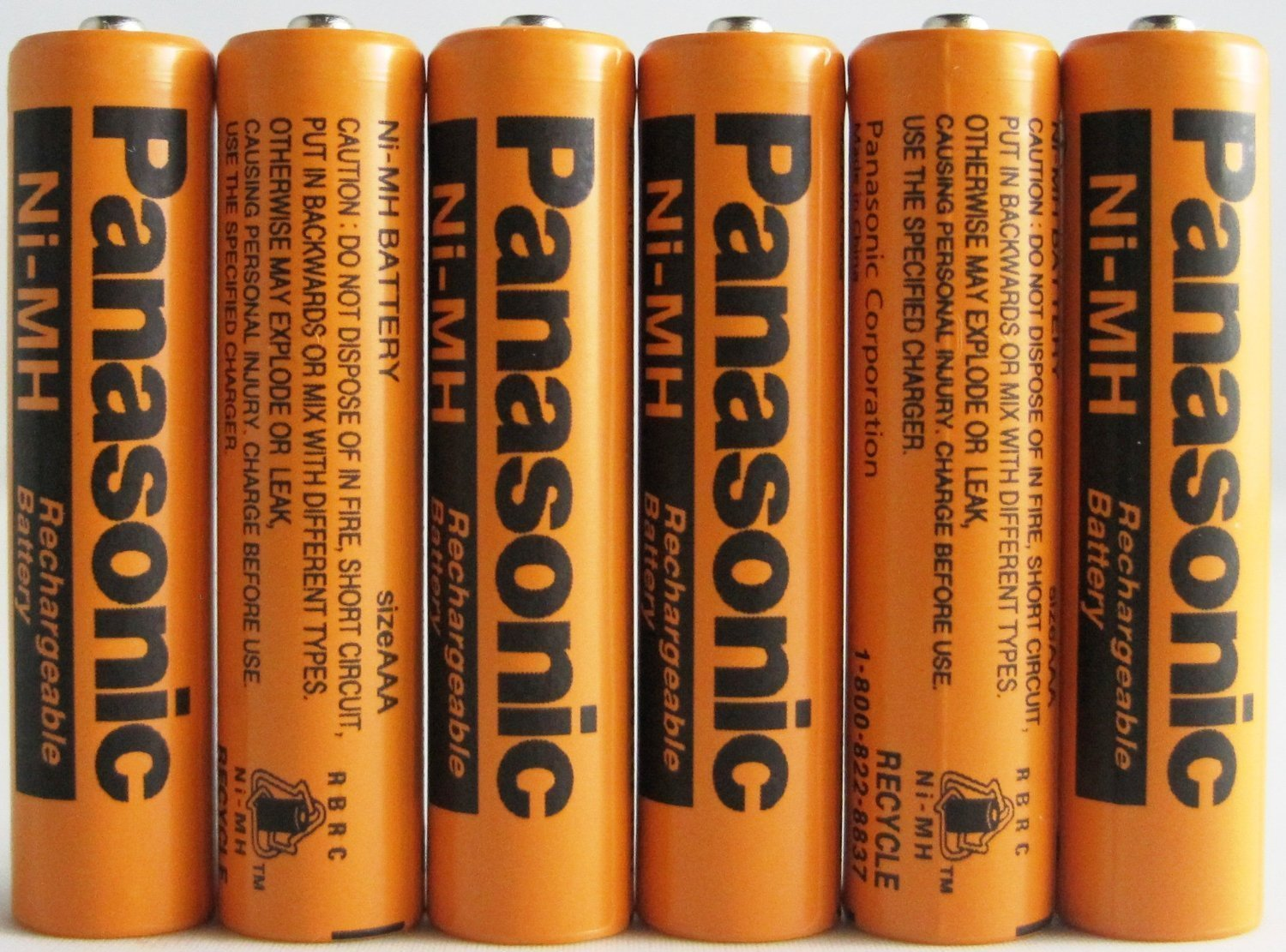Panasonic HHR-75AAA/B-6 Ni-MH Rechargeable MOTLK Battery for Cordless Phones, 700 mAh, 6 Count (Pack of 3)
