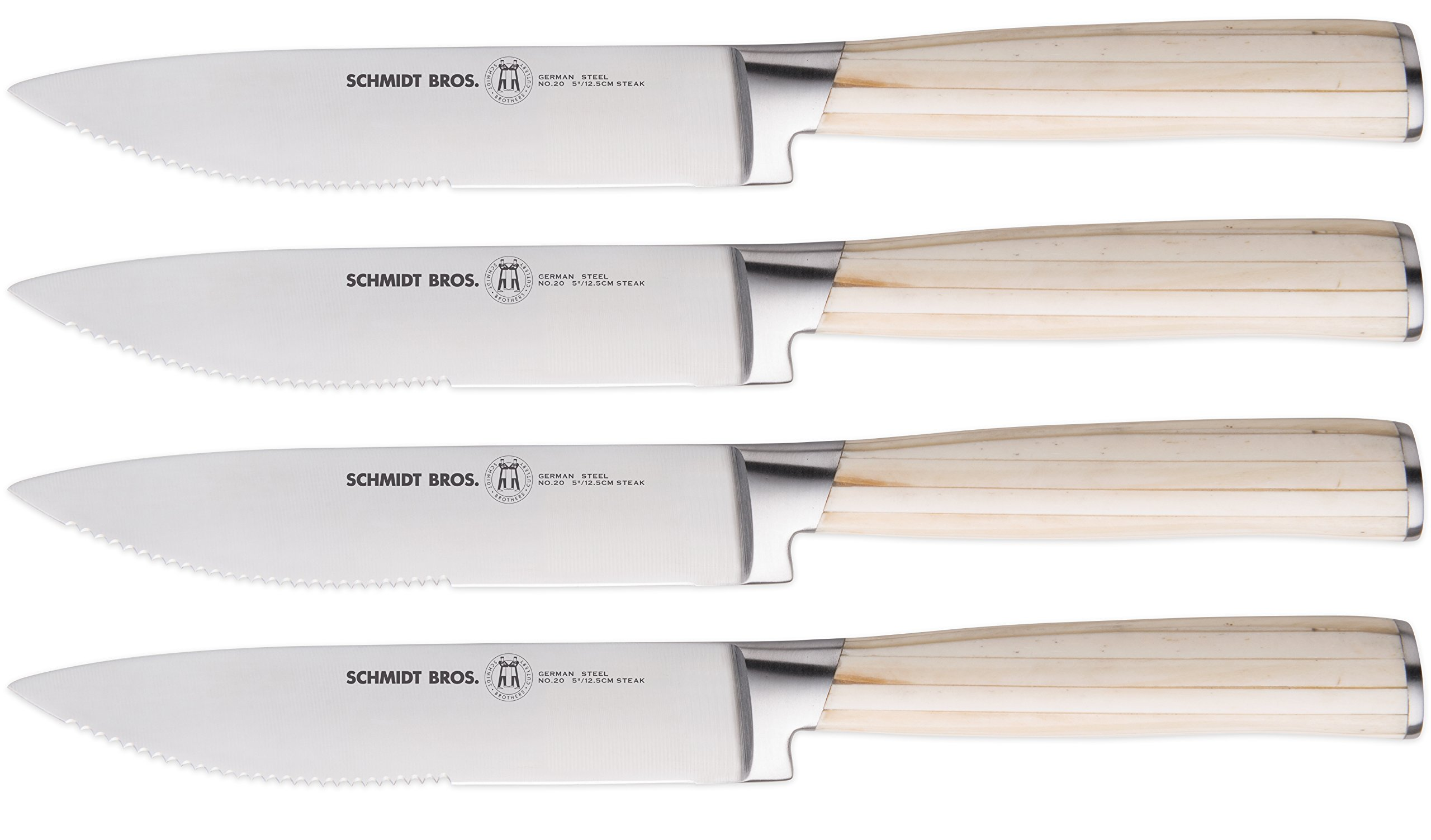 Hudson Home Schmidt Brothers Cutlery, SBBOSS4,#20 Bone 4pc steak set, White