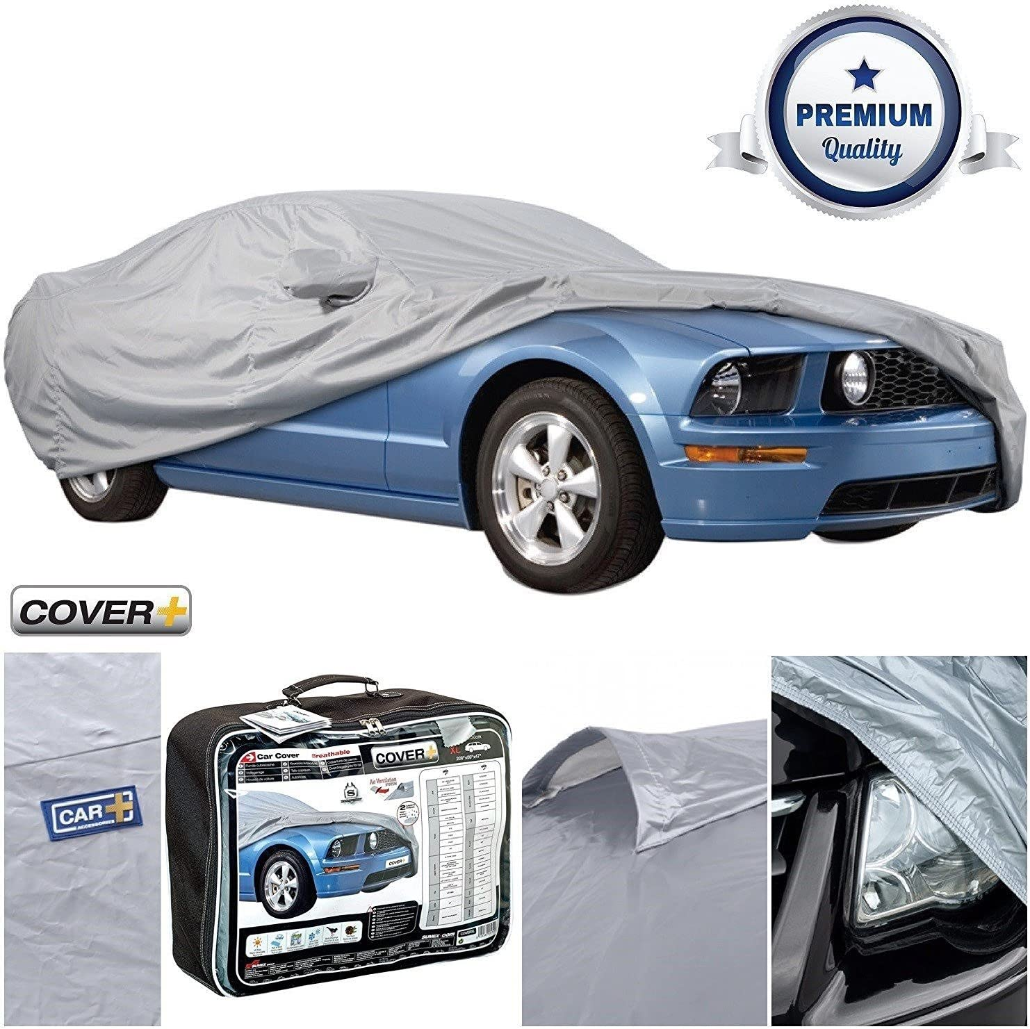 Waterproof Cotton Lined Full Car Cover For FORD MUSTANG 14-ON