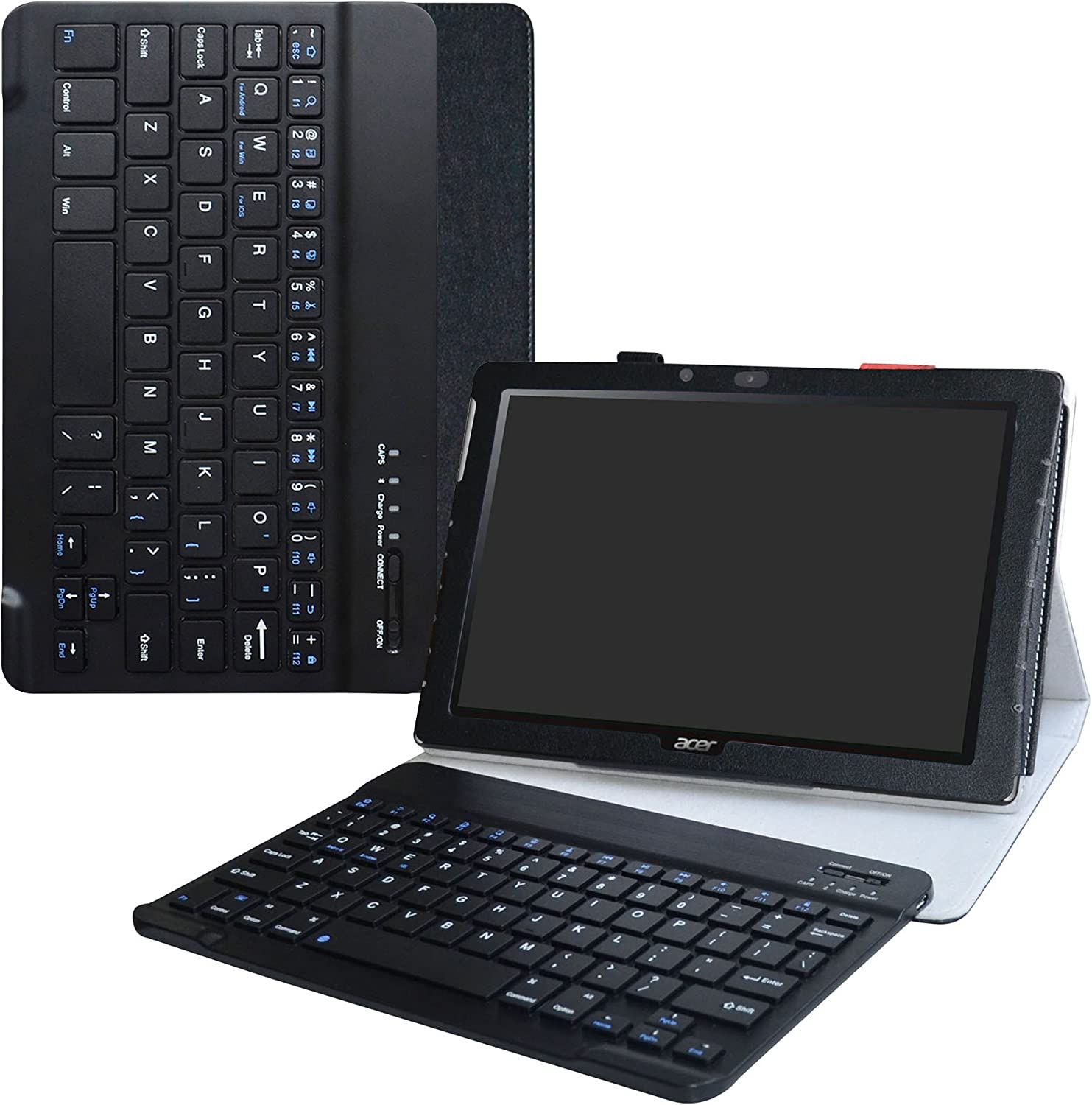 Acer Iconia One 10 B3-A40 Wireless Keyboard Case,LiuShan Detachable Wireless Keyboard Standing PU Leather Cover for 10.1