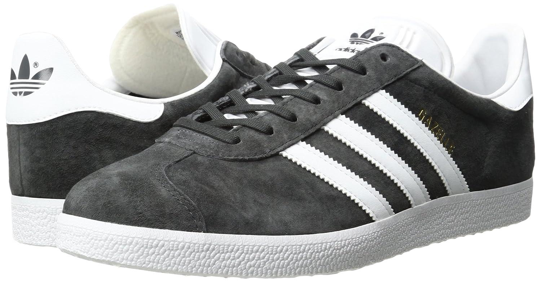 adidas Men's Gazelle Casual Grey Sneakers B01HLJHMSA 7.5 M US|Dark Grey Casual Heather/White/Metallic/Gold 3b3117