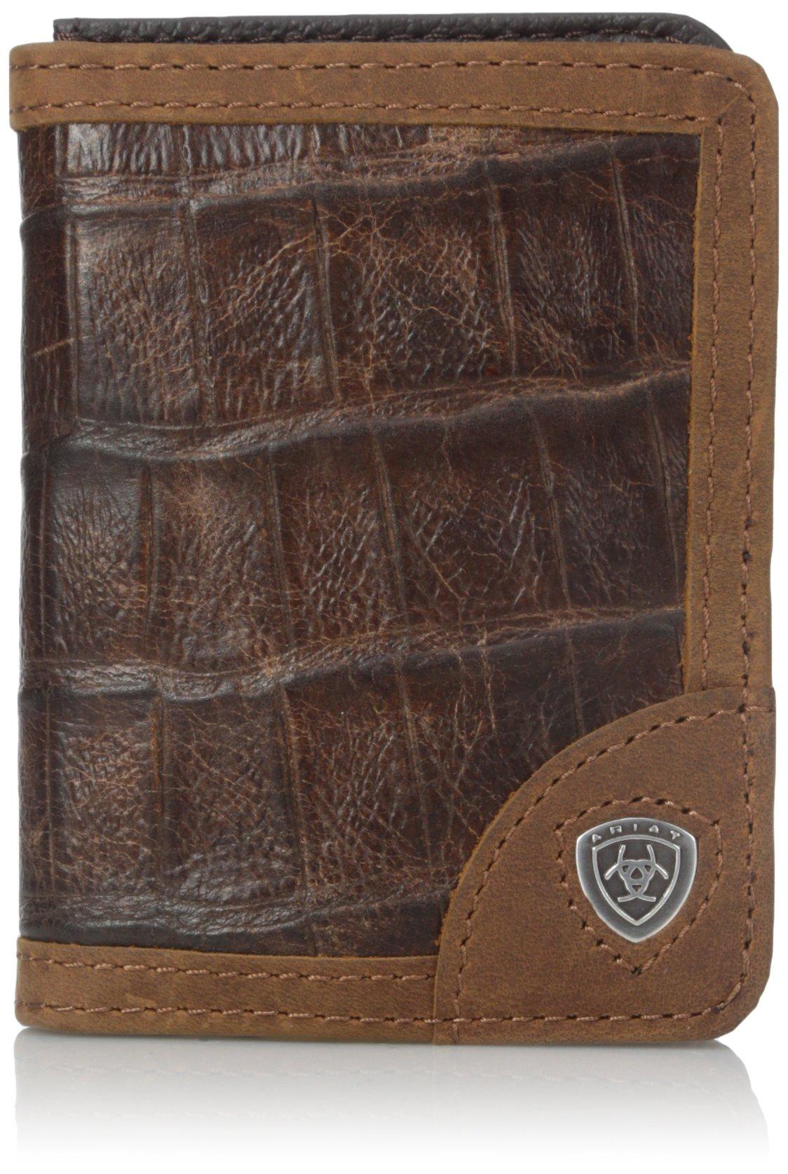 Ariat Men's Gator Print Bi, Brown, One Size