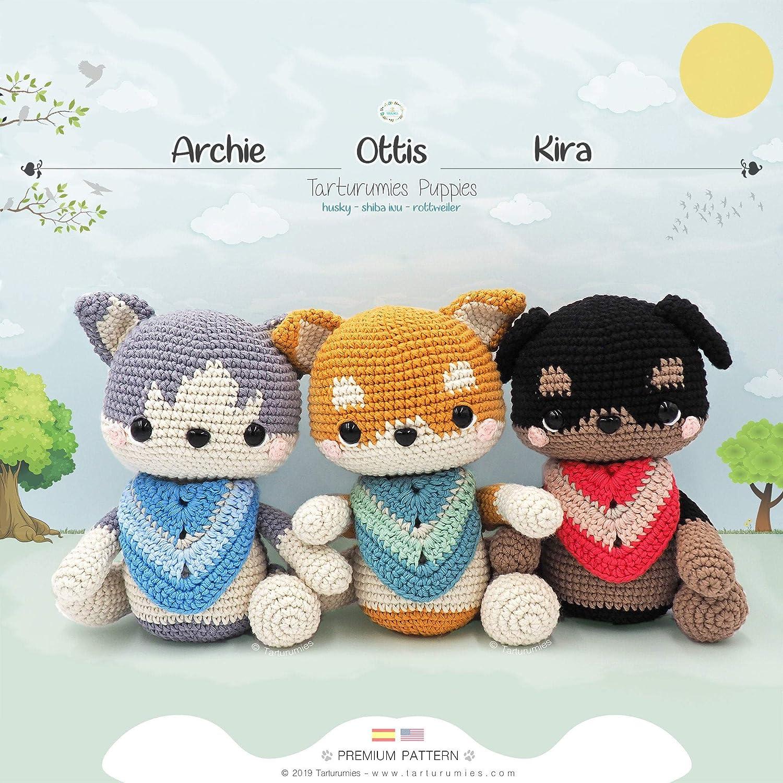 DIY Crochet Amigurumi Puppy Dog Stuffed Toy Free Patterns | Crochê ... | 1500x1500