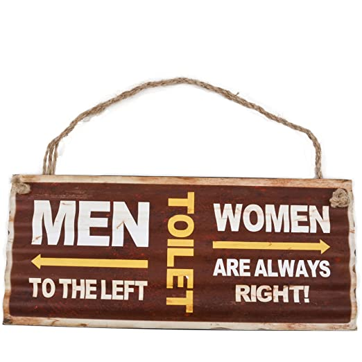 Cartel de chapa Toilet Man Woman Diseño Metal 13 x 30 cm ...