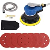 Air Random Orbital Sander, Pneumatic Palm Sander, 6-Inch Sander with Dust Bag by Autolock