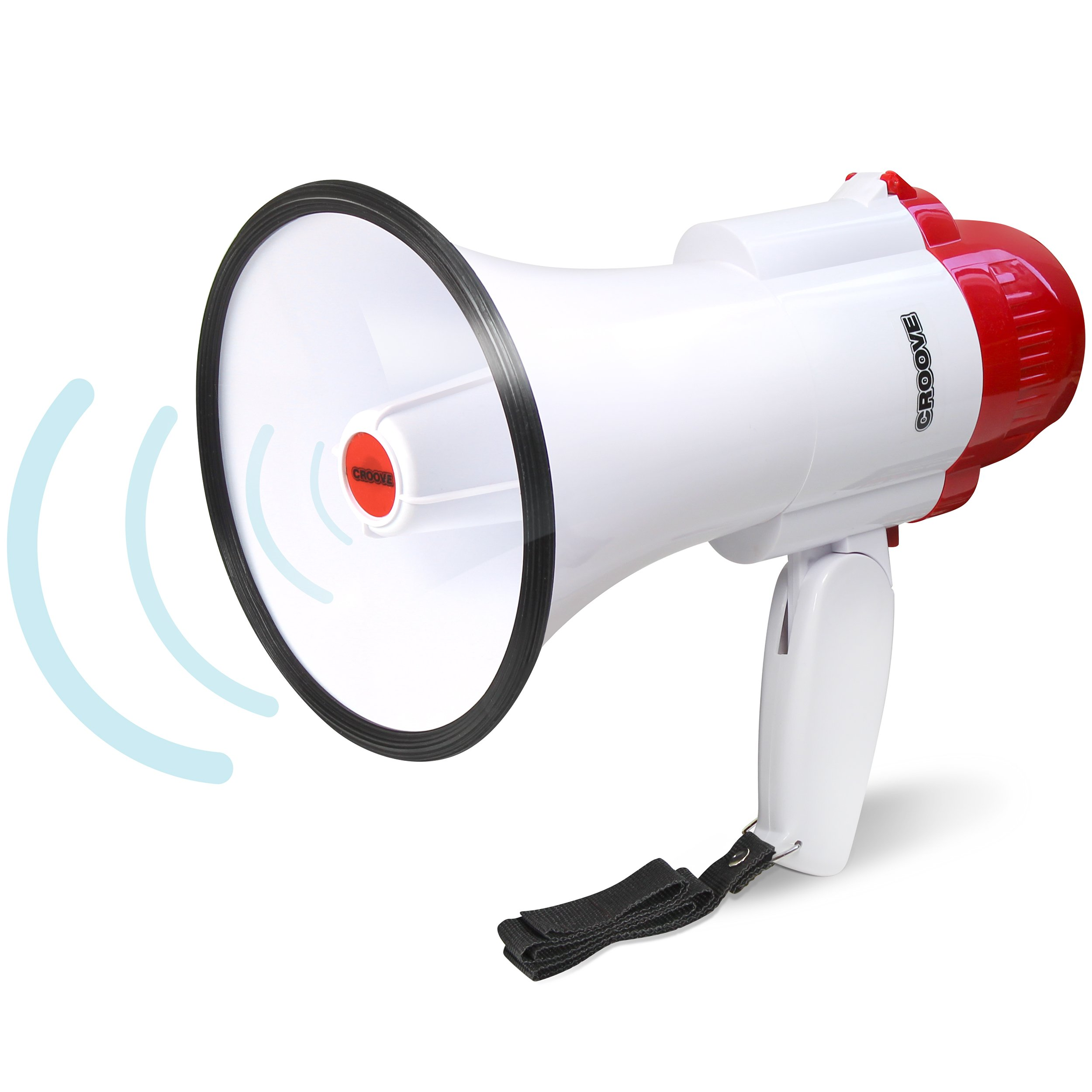 Croove Megaphone Bullhorn With Siren, 30 Watt Powerful and Lightweight