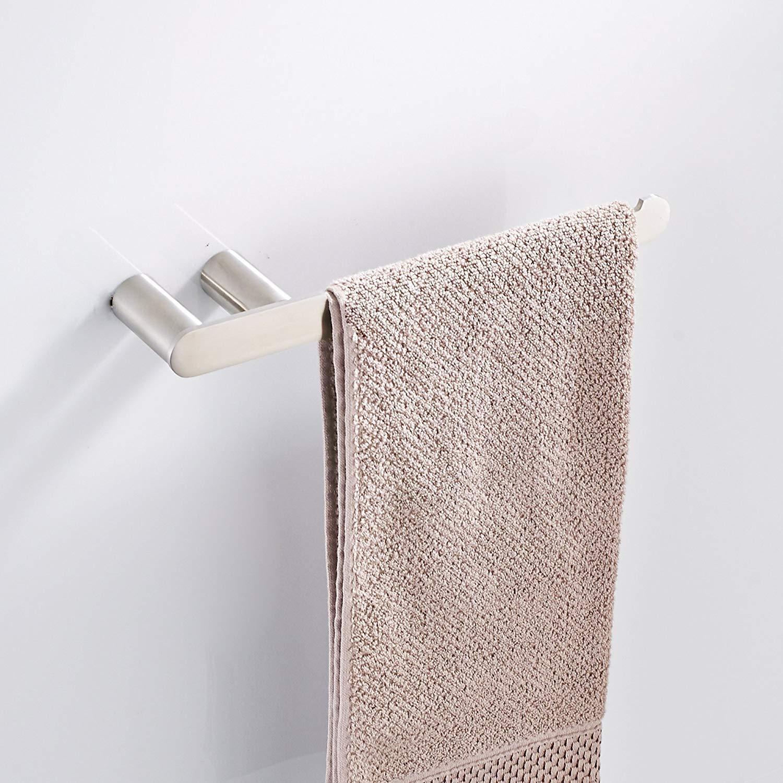 Toallero baño toallero de anilla abierta de gancho grande soporte para rollo de papel de cocina toallero de barra estante soporte de pared acero inoxidable ...