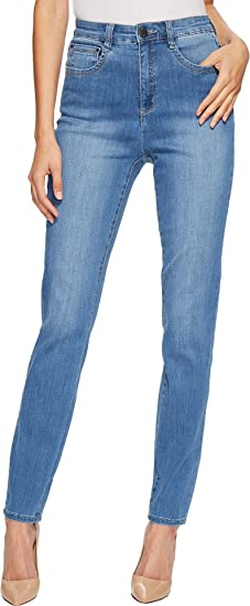 b5876d14158 FDJ French Dressing Jeans Women s Coolmax Denim Suzanne Slim Leg in  Chambray Chambray ...