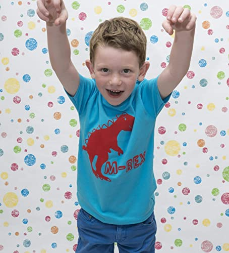 5d2af74f5 Personalised dinosaur t-shirt for boy or girls: Amazon.co.uk: Handmade
