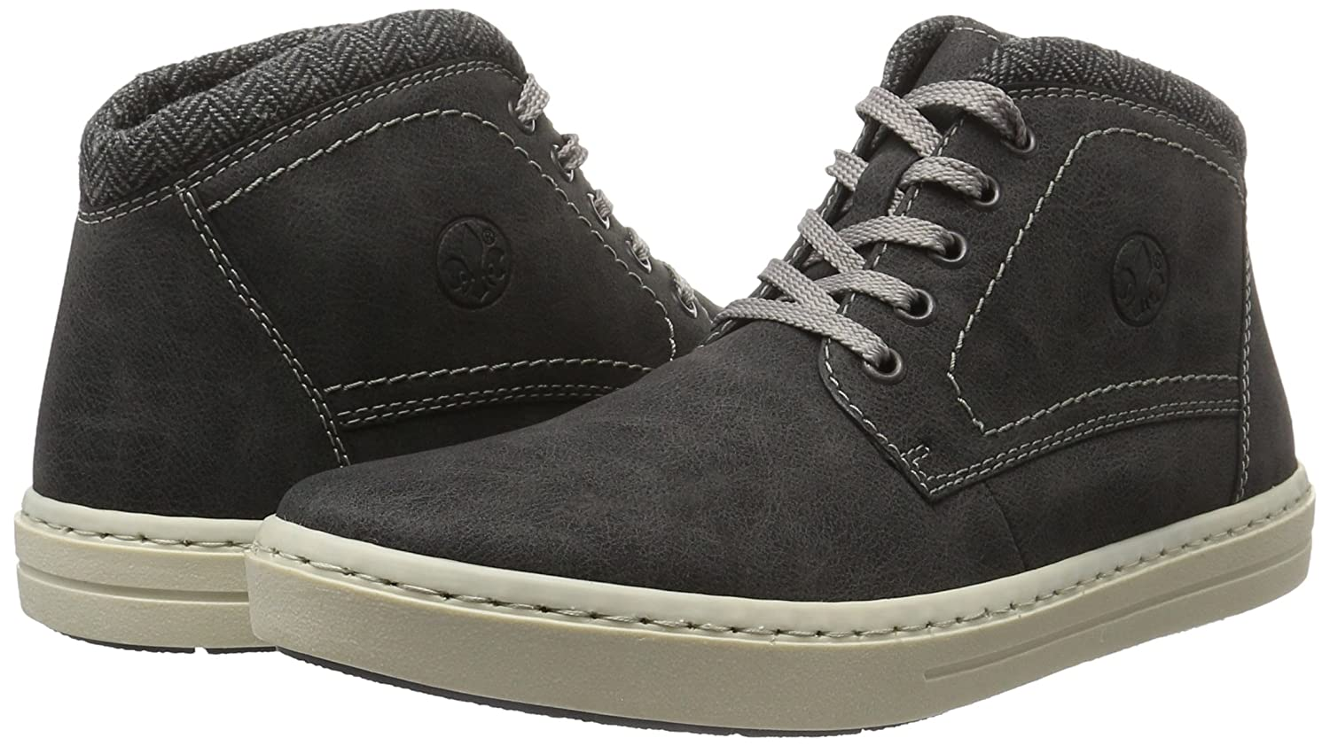 Mens 30932 Hi-Top Sneakers, Grey, 7.5 UK Rieker