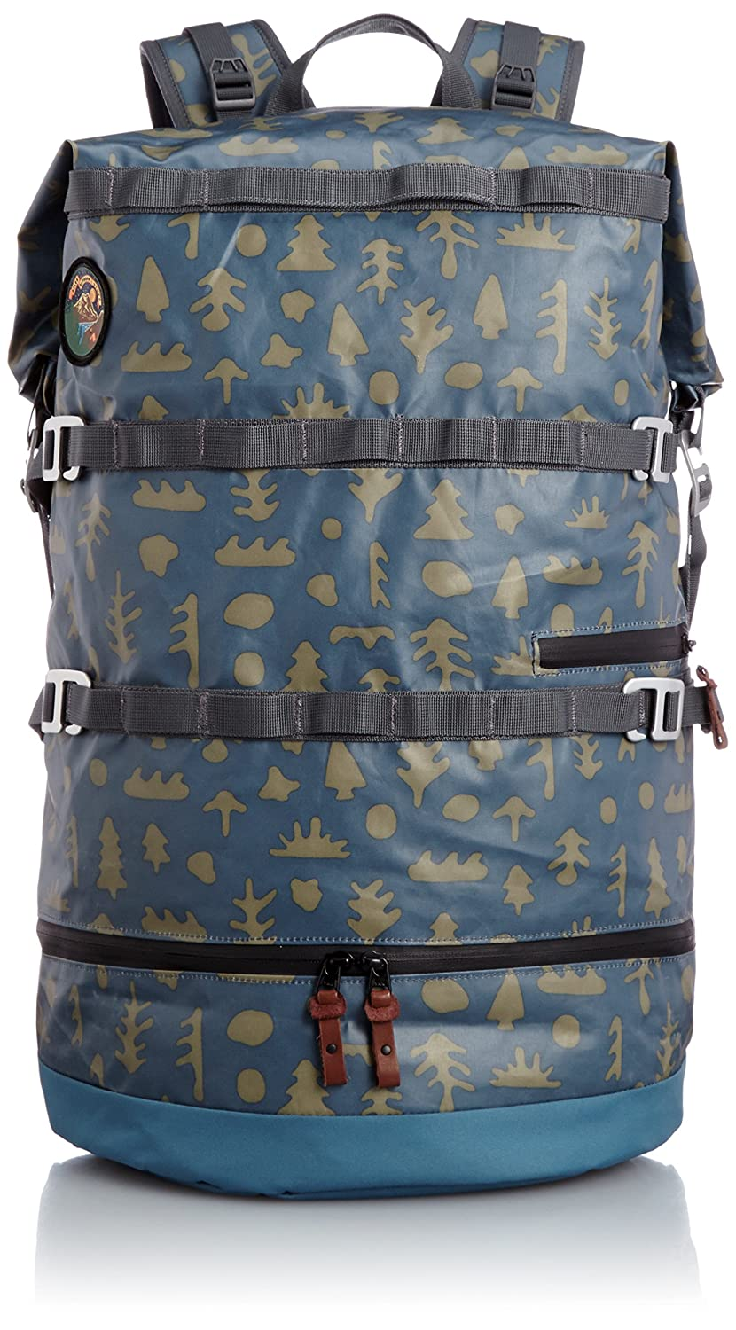 Poler Stuff Bag Wet Dry Pack, Ocean Mushy Trees, 50 x 40 x 6 cm, 18 Liter, POLBAG_WET40