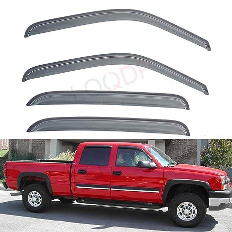 Rain Guards For Trucks >> Lqqdp 4pcs Front Rear Smoke Sun Rain Guard Window Visors Fit Chevy Gmc Cadillac 00 06 Suburban Yukon Xl 02 06 Avalanche Escalade Esv Ext 99 06