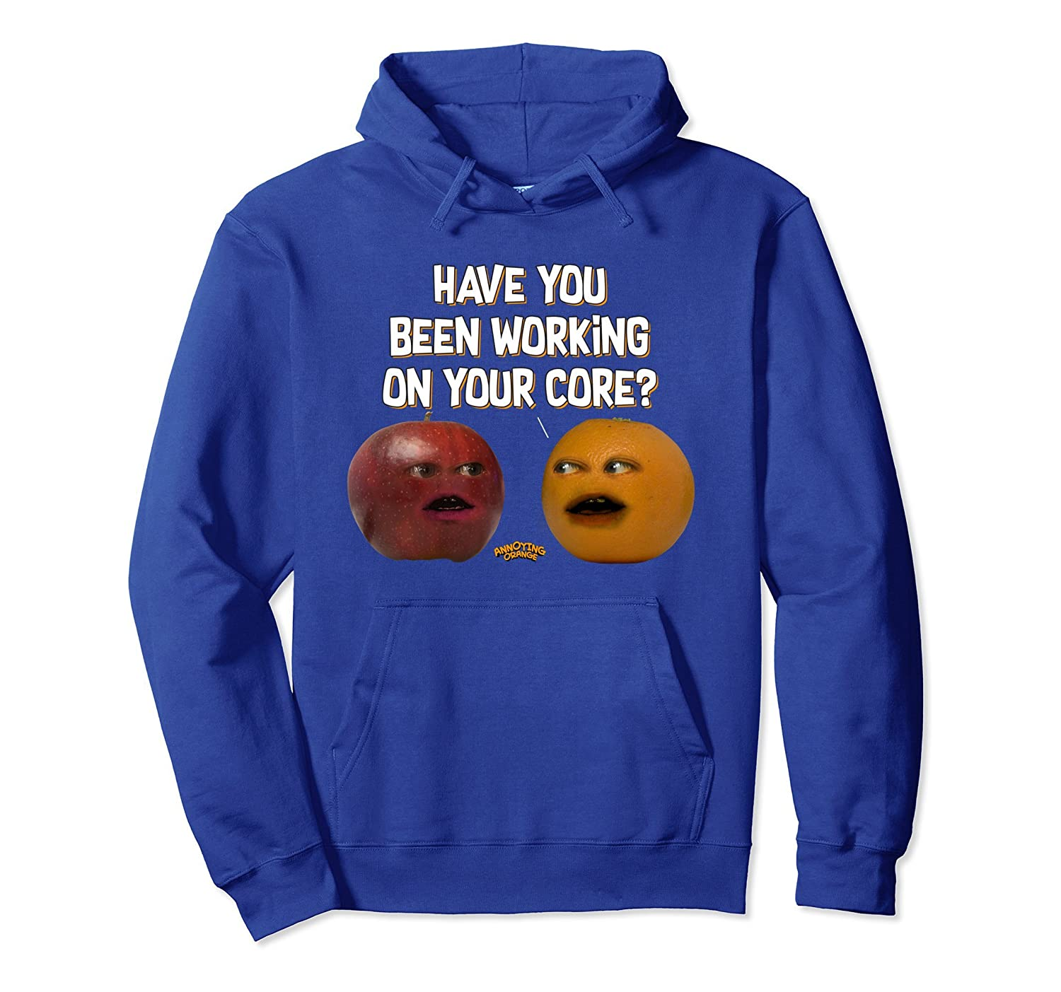 Annoying Orange Working On Your Core Hoodie-alottee gift